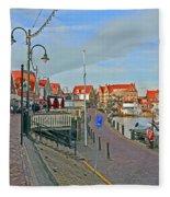 Port Of Volendam Fleece Blanket