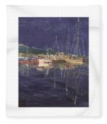 Stary  Port Orchard Night Fleece Blanket