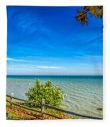 Port Sanilac Scenic Turnout Fleece Blanket