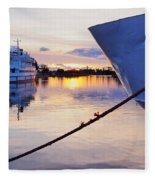 Port Sunrise Fleece Blanket