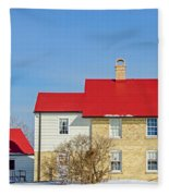 Port Washington Light Station  Fleece Blanket