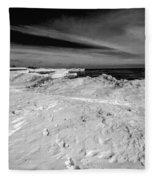 Port Washington - South Beach B-w  Fleece Blanket