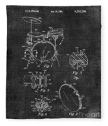 Portable Drum Set Patent 037 Fleece Blanket