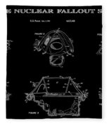 Portable Nuclear Fallout Shelters 2 Patent Art 1986 Fleece Blanket