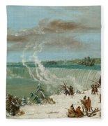 Portage Around The Falls Of Niagara At Table Rock Fleece Blanket