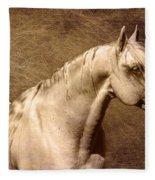 Portait Of A Stallion Fleece Blanket
