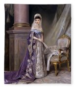 Portait Of Empress Maria  Fyodorovna Fleece Blanket