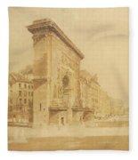 Porte St Denis, Paris Fleece Blanket