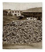 Porter Bro's. Pioneer Preparers Of Abalone Steaks. Monterey Circa 1920 Fleece Blanket