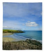 Porthcurnik Beach Cornwall Fleece Blanket