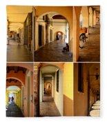 Porticos Of Padua No 2 Fleece Blanket