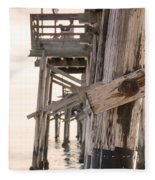 Portion Of The Pier Balboa Fleece Blanket