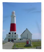 Portland Bill Lighthouse Fleece Blanket