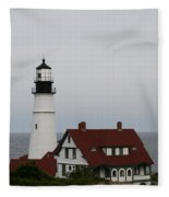 Portland Head Light I Fleece Blanket