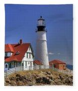 Portland Head Light Fleece Blanket