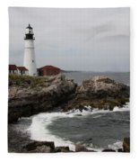 Portland Head Light - M E Fleece Blanket