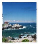 Portland Head Lighthouse Fleece Blanket