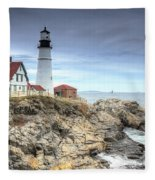 Portland Head Lighthouse Fleece Blanket