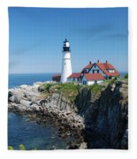 Portland Lighthouse 2 Fleece Blanket