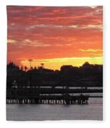 Portland Main Harbor Fleece Blanket