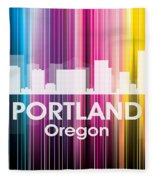 Portland Or 2 Fleece Blanket