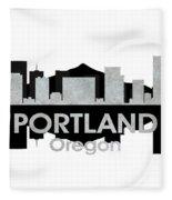 Portland Or 4 Fleece Blanket