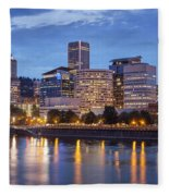 Portland Skyline Pm2 Fleece Blanket