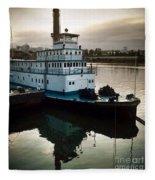 Portland Steam Sternwheeler  Tugboat Fleece Blanket
