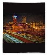 Portland Union Train Station Two Fleece Blanket