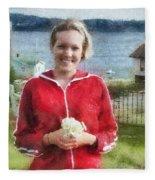 Portrait In Newfoundland Fleece Blanket