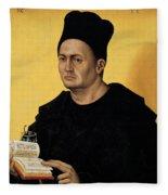 Portrait Of A Benedictine Abbot Fleece Blanket
