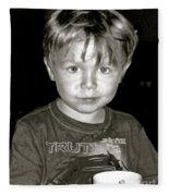 Portrait Of A Boy Fleece Blanket
