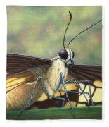 Portrait Of A Butterfly Fleece Blanket