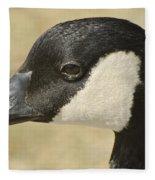 Portrait Of A Canadian Goose  Fleece Blanket