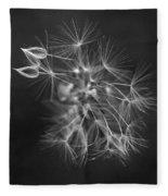Portrait Of A Dandelion Fleece Blanket