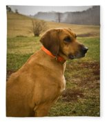 Portrait Of A Dog Fleece Blanket