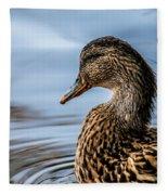 Portrait Of A Duck Fleece Blanket
