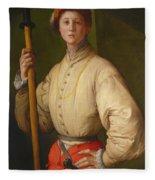 Portrait Of A Halberdier Fleece Blanket