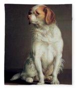 Portrait Of A King Charles Spaniel Fleece Blanket