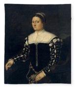 Portrait Of A Lady Fleece Blanket