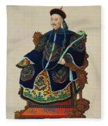 Portrait Of A Mandarin Fleece Blanket