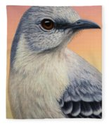 Portrait Of A Mockingbird Fleece Blanket