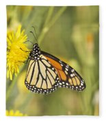 Portrait Of A Monarch Fleece Blanket