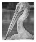 Portrait Of A Pelican Fleece Blanket
