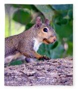 Portrait Of A Squirrel Fleece Blanket