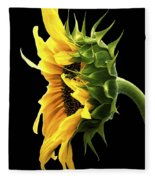 Portrait Of A Sunflower Fleece Blanket