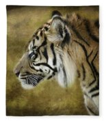 Portrait Of A Tiger  Fleece Blanket