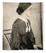 Portrait Of A Woman, C1895 Fleece Blanket