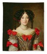 Portrait Of A Woman Fleece Blanket