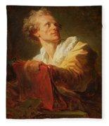 Portrait Of A Young Artist Fleece Blanket